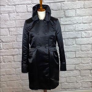 Apostrophe Black Trench Coat